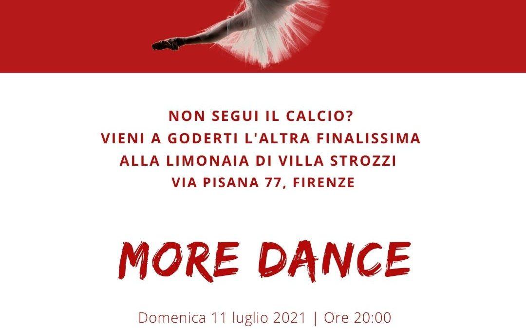 MORE DANCE l'11 luglio alla Limonaia di Villa Strozzi